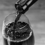 Vinicultura vino y la copa